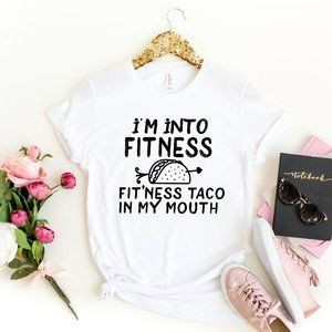 Fitness T shirt Funny Tacos Graphic Unisex Tee